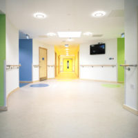 Hospital Handrails in the Cefn Coed Mental Health Ward