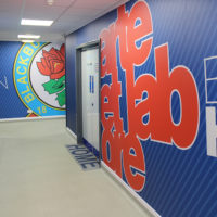 Protection murale avec impression digitale pour le Blackburn Rovers Football Club