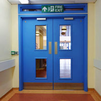Impact Resistant Hospital Fire Doors at Perth Royal Infirmary