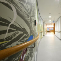 Curved Timber Handrail at Tameside Macmillan Unit